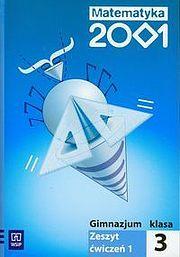 Matematyka 2001 3 Zeszyt ćwiczeń. Część 1