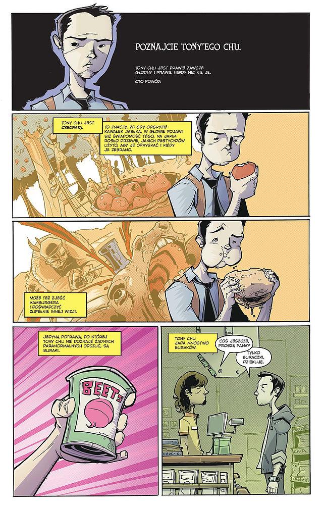 Strona komiksu serii Chew