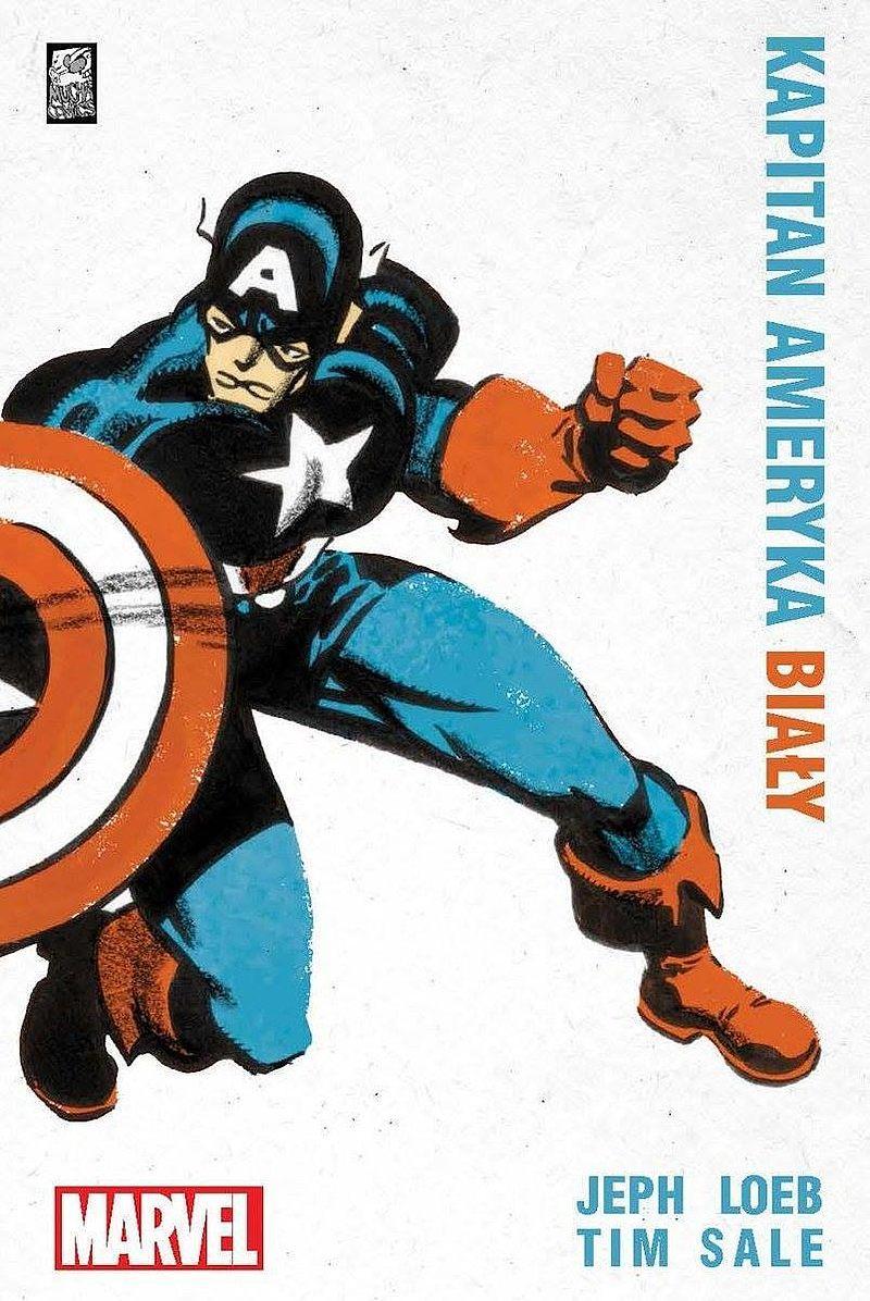 Okładka komiksu Kapitan Ameryka: Biały
