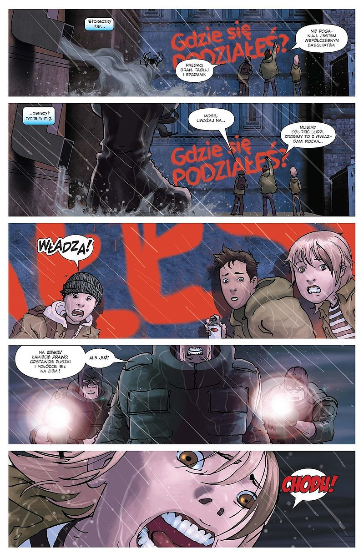 Strona komiksu Spider-Man: Władza