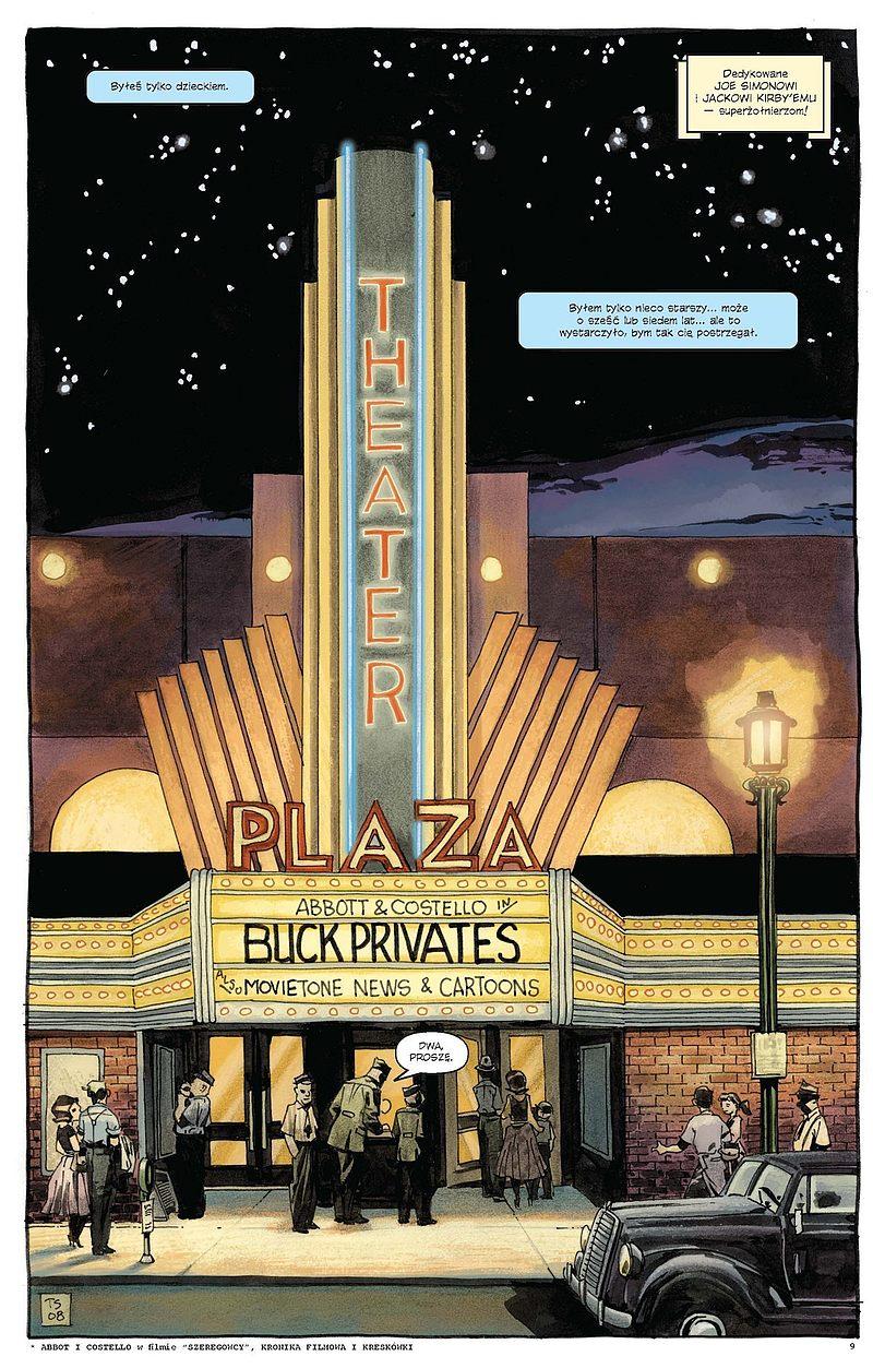 Strona komiksu Kapitan Ameryka: Biały