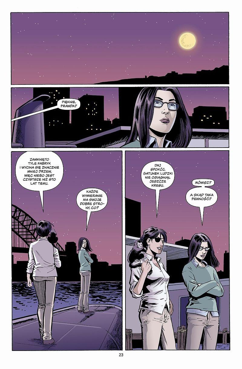 Strona komiksu Y - ostatni z mężczyzn tom 4