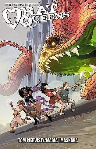 Okładka komiksu Rat Queens tom 1 - Magią i maskarą