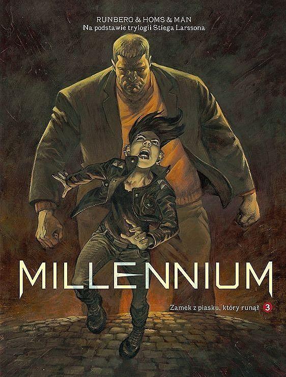 Okładka komiksu Millennium tom 3 - Zamek z piasku, który runął