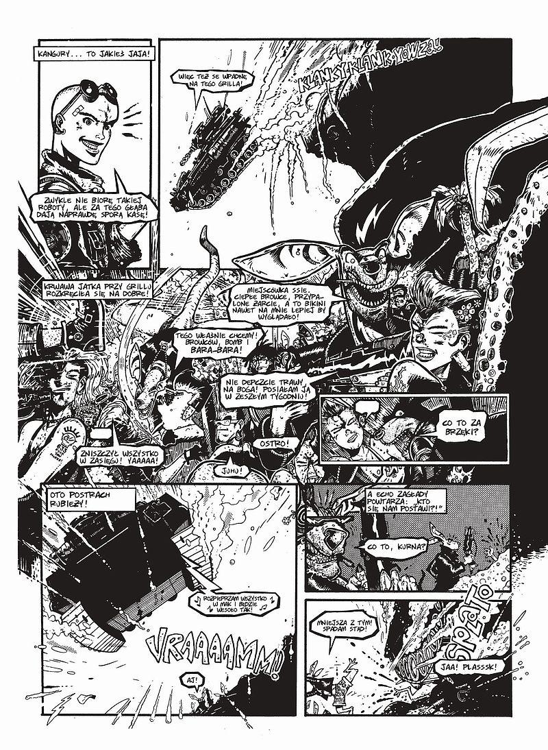 Strona komiksu Tank Girl tom 1