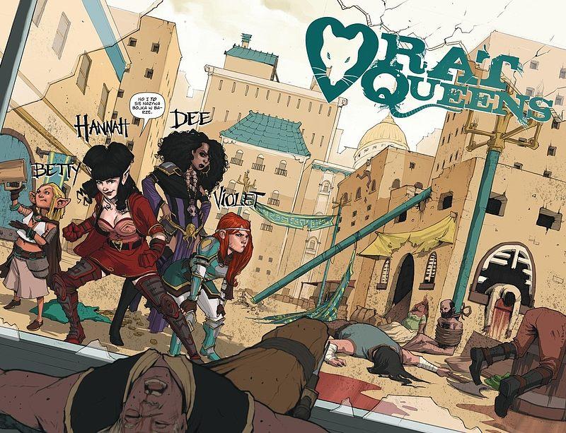 Strona komiksu Rat Queens tom 1 - Magią i maskarą