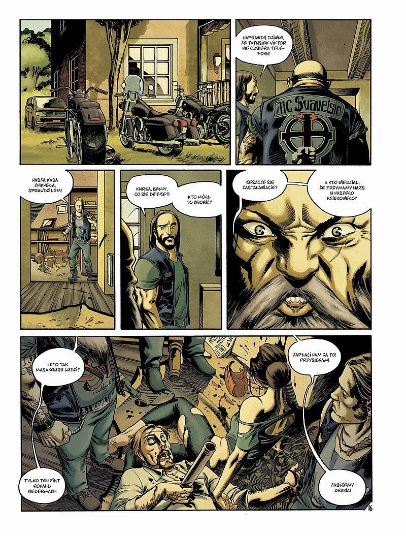 Strona komiksu Millennium tom 3 - Zamek z piasku, który runął