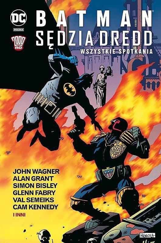 Okładka komiksu Batman/Sędzia Dredd - Wszystkie spotkania