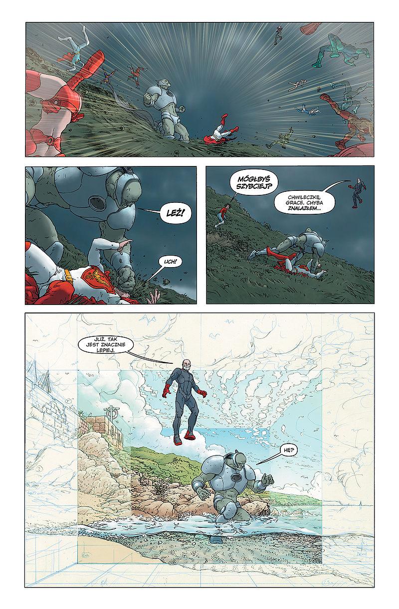 Strona komiksu Jupiter's Legacy - Dziedzictwo Jowisza tom 1