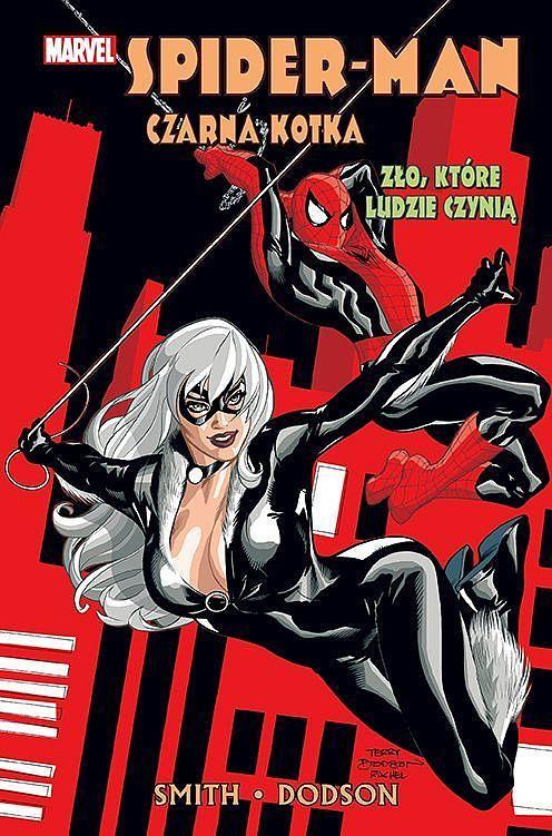 Okładka komiksu Spider-Man i Czarna Kotka - Zło, które ludzie czynią
