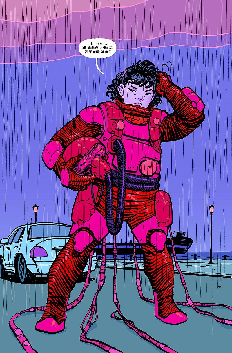 Strona komiksu Paper Girls tom 2