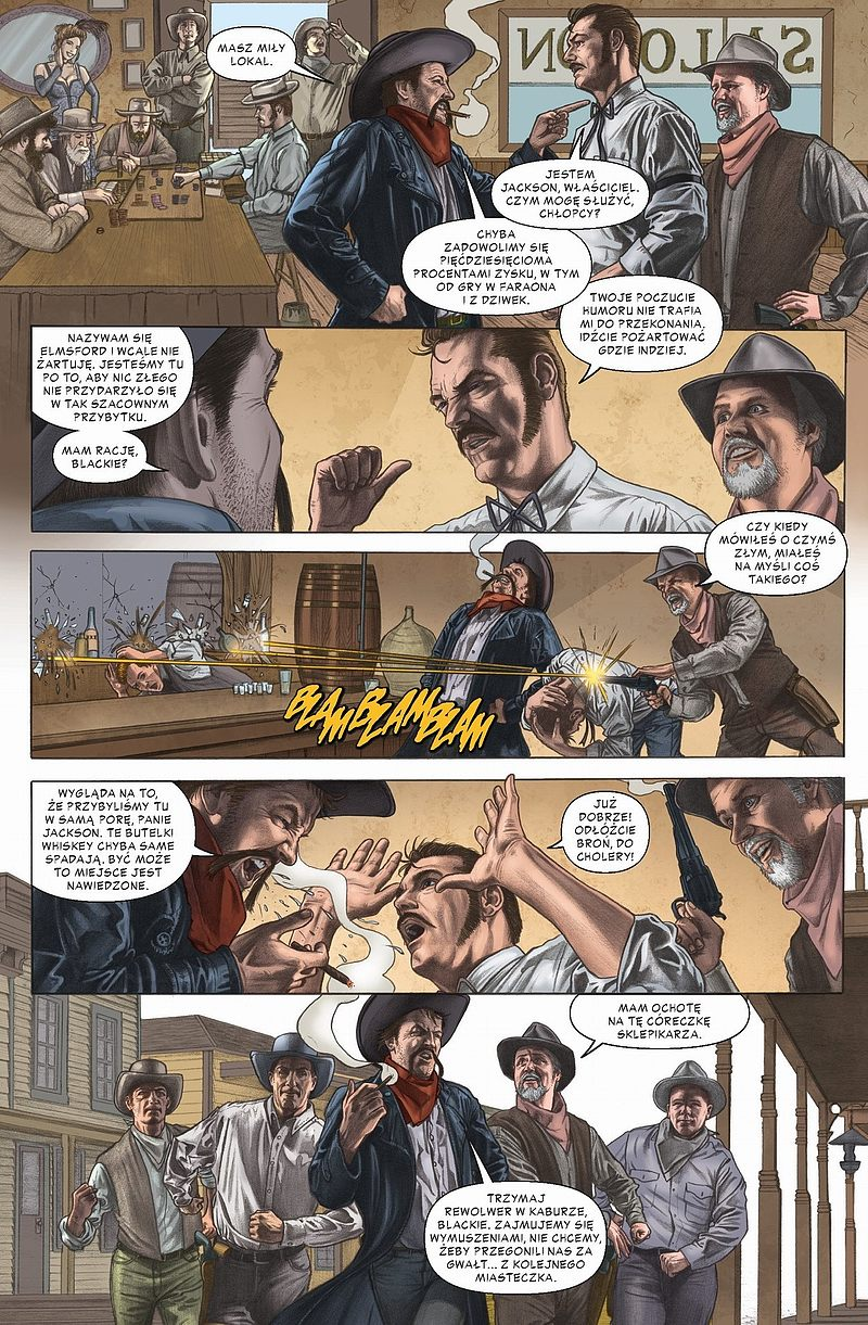 Strona komiksu Jonah Hex - Kule nie kłamią