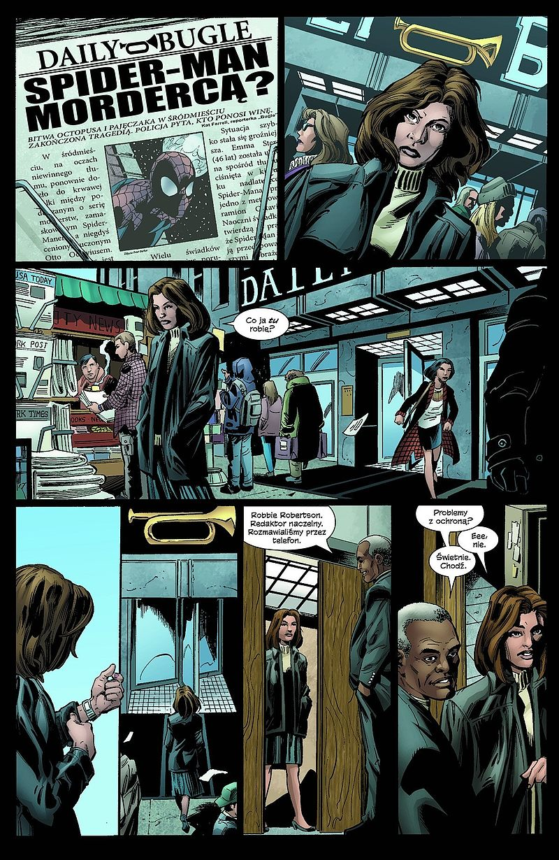 Strona komiksu Jessica Jones: Puls